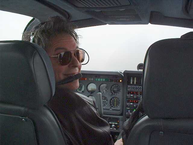 Peter flying a Tobago on approach to HPN.